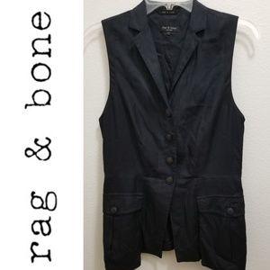 RAG & BONE Black 100% Silk Vest